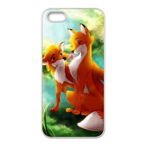 Fox And The Hound 004 coque iPhone 5 5S Housse Blanc téléphone portable couverture de cas coque EOKXLLNCD09352