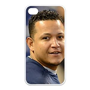 Professional MLB Player-Miguel Cabrera of Detroit Tigers Image Design for TPU Apple Iphone 4/4s Case (white)