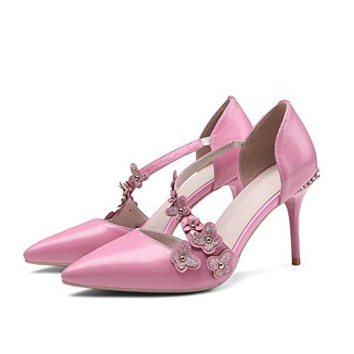 Thirty alto femenino tacón Donyyyy Baotou zapatos four temperamento HRWcc