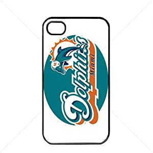 NFL American football Miami Dolphins Fans Apple iPhone 4 / 4s pc hard hard Black or White case (Black)