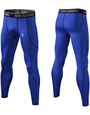 MeetHoo Men's Compression Pants, Cool Dry Athletic Leggings Base Layer Workout Running Tights with Pocket Gym Sport Fitness