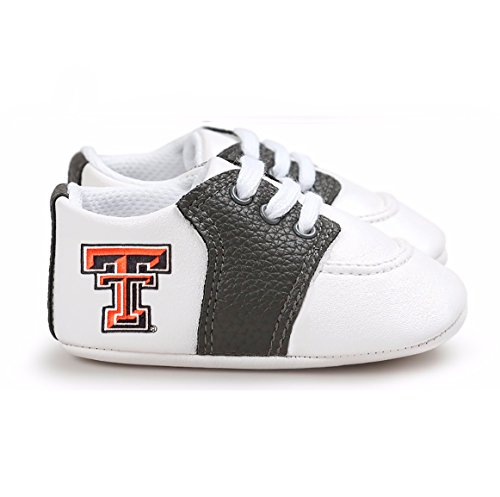 Texas Tech Baby Gear - Future Tailgater Texas Tech Red Raiders Pre-Walker Baby Shoes - Black Trim