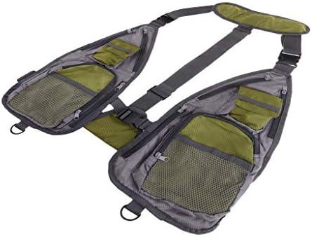 Toygogo フィッシングベスト 釣りウェア ジャケット Dリング フロントポケット 大容量 アウトドア用 多機能
