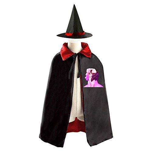 DBT 2017 Melanie Martinez Childrens' Halloween Costume Wizard Witch Cloak Cape Robe and Hat
