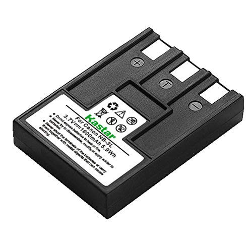 Kastar NB-3L Battery Replacement for Canon Powershot SD550 PowerShot SD500 PowerShot SD110 PowerShot SD100 PowerShot SD10 Digital IXUS 700 750 i5 Digital 30 600 D20 D30 D53Z Digital Camera ()