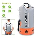 ROCONTRIP Dry Bag Waterproof Backpack, Ultra Durable PVC Roll Top Waterproof Dry Storage