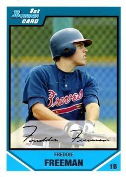 2007 Bowman Draft Picks Prospects #BDP12 Freddie Freeman Pre-Rookie Baseball Card - 1st Bowman Card