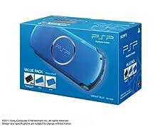SONY PSP Playstation Portable Console JAPAN MODEL PSP-3000 Vibrant Blue Value Pack | PSPJ-30024 (Japan Import)