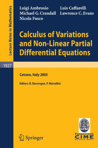 Calculus of Variations and Nonlinear Partial Differential Equations: Lectures given at the C.I.M.E. Summer School held i