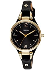Fossil Women's ES3148 Georgia Analog Display Analog Quartz Black Watch