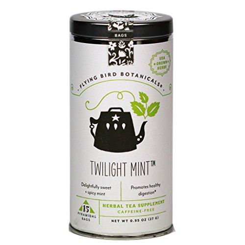 (FLYING BIRD BOTANICALS 15 Bag Tin Twilight Mint Tea, 15 Count )