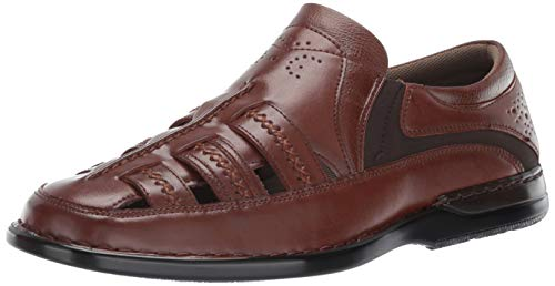 STACY ADAMS Men's Apollo Closed-Toe Fisherman Slip-On Sandal, Cognac 12 M US