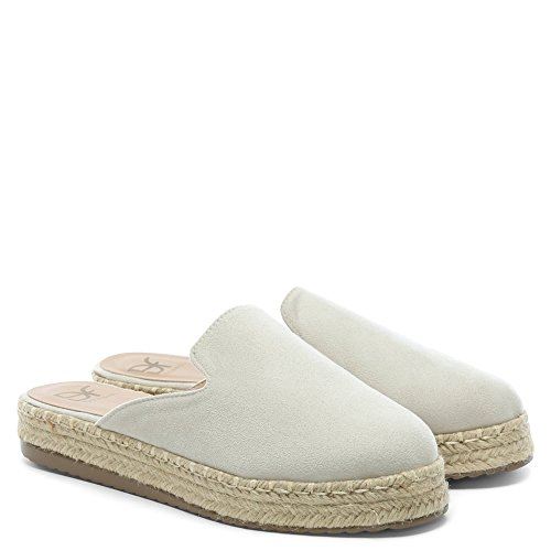 DF By Daniel Troy White Suedette Backless Espadrille Mules White Suede vJCjagXj