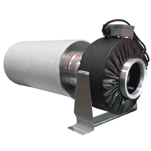 Virtual Sun 8 Quot Inline Exhaust Grow Light Fan Carbon Air