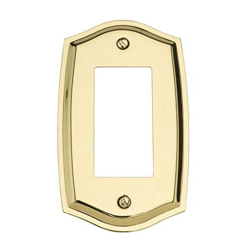 Baldwin 4785.030.CD Colonial Design Single GFCI Switch Plate, Polished Brass - Lacquered (Colonial Design Single)