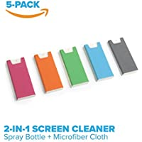 PhoneSoap Shine - 2 in 1 Cell Phone and Screen Cleaner with Attached Microfiber Cloth (5 Pack - 5 Colors)