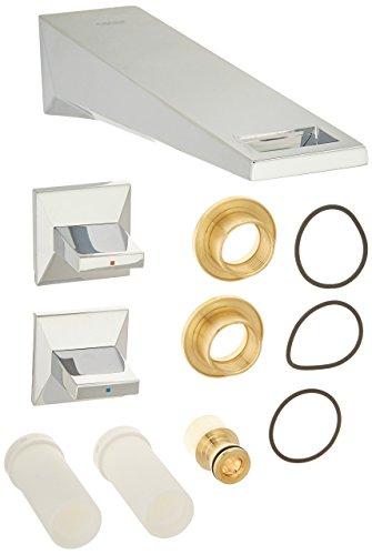 Allure Brilliant 2-Handle 3-Hole Wall Mount Vessel Bathroom Faucet