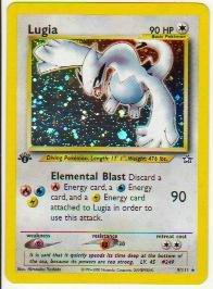 Genesis Holofoil Card (Pokemon Neo Genesis 1st Edition Holofoil Lugia 9/111)