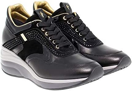 4US CESARE PACIOTTI Luxury Fashion Donna 4USED3 Nero Pelle Sneakers | Stagione Outlet