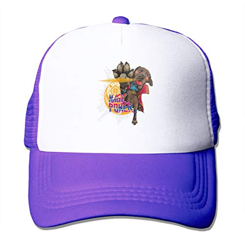 AiguanSuper Hero Dog Strange Magic Power Sun Protection Adjustable Caps Quick Dry Mesh Hat Purple