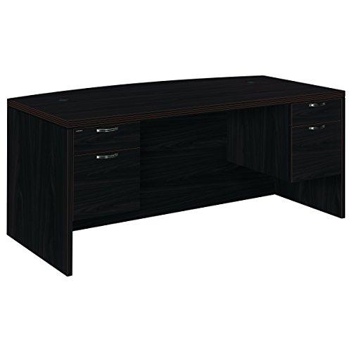 HON 11595AFNN Valido 11500 Bow Top Double Pedestal Desk, 72w x 36d x 29 1/2h, Mahogany