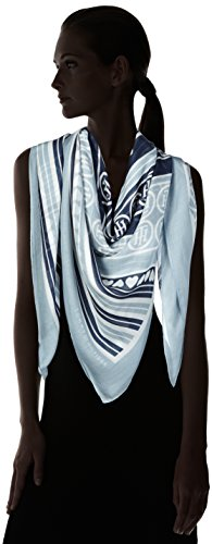 Tommy Hilfiger Stripes & Hearts Scarf, Polo para Mujer Rosa (Tommy Navy/ashley Blue/bright White)