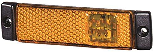 Hella Side Marker - HELLA 008645011 8645 Series LED Amber Side Marker Lamp with Reflex Reflector