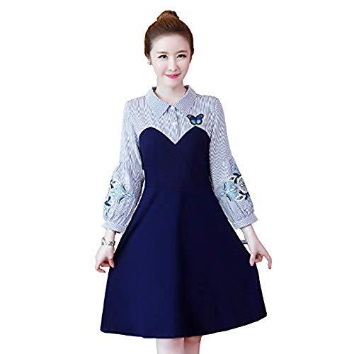 ツインスカープエンドテーブル2018秋と冬の新しいステッチエレガントな女性のドレス