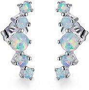 White Fire Opal Earrings Fine Earrings 925 Sterling Silver Hypoallergenic High Polishing Drop Earrings Fashion