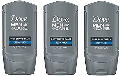 Dove Men+Care Post Shave Balm, 3.4 oz (3 Pack 3.4-Ounce Hydrating)