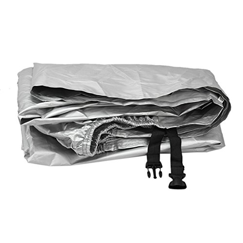 Refaxi Motorcycle Motor Bike Scooter Waterproof Snow Sun Protector Silver Rain Cover (Weatherall Cover Plus Motorcycle)