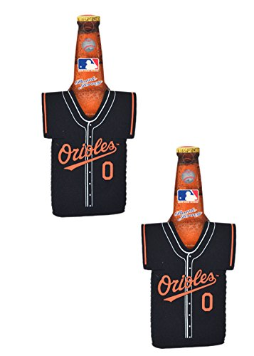 Official Major League Baseball Fan Shop Authentic MLB 2-pack Insulated Bottle Team Jersey Cooler (Baltimore Orioles) -