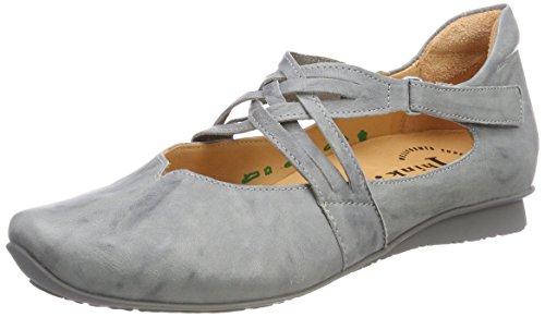Think 282108 Stahl Cinturino alla Caviglia Donna Chilli 18 Grigio Ballerine con rFArqp
