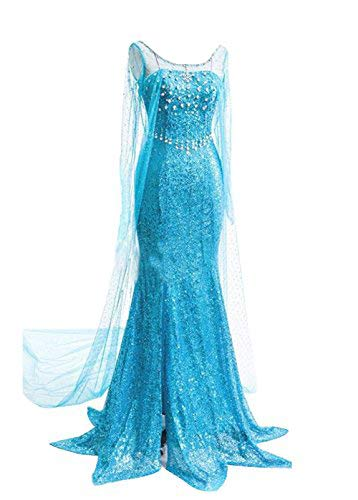 Quintion Norris Mermaid Sweetheart Party Dress Elsa Cosplay