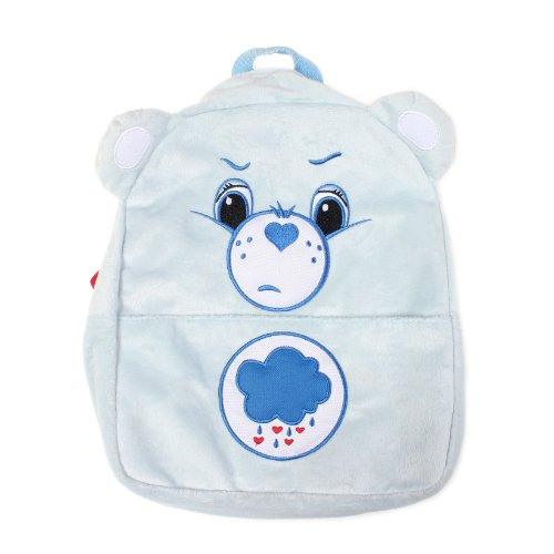 Grumpy Bear Plush (Care Bears Plush Grumpy Bear Blue Fuzzy Backpack Back Pack Bag)