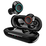 Wireless Bluetooth Earbuds JECOO T2S True Stereo Headphones in-Ear Buds Built-in Mic Headsets IPX5 Waterproof Premium Sound Earphones with Charging Case for Deep Bass Sports Running
