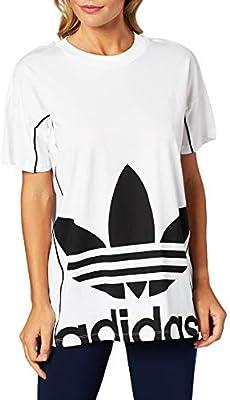 adidas Long tee Camiseta de Manga Corta, Mujer, White, 40: Amazon.es: Deportes y aire libre