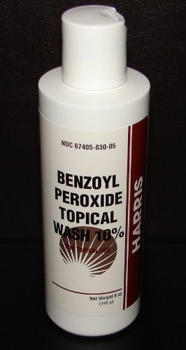 Harris Pharmaceuticals Benzoyl Peroxide 10% Acne Wash 5oz (Compare to PanOxyl)