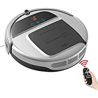 Robotic Vacuum Cleaner, Robot Vacuum with Strong Suction, Auto-Charging Robotic Vacuum for Pet Hair, Hard Floor with Dock Station and Remote Control-Silver