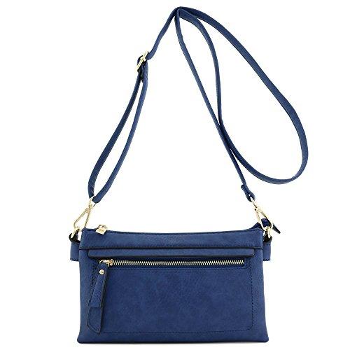 Royal Blue Wristlet Crossbody Bag Compartment Clutch Multi 5BxYqXwaY
