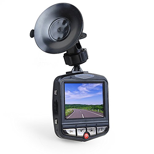 InnooTech AutokameraFull HD 12MP 1080P DVR Recorder LCD Camcorder mit 170 Grad Ultra-Weitwinkelobjektiv HDMI-Ausgang Nachtsicht G-Sensor 16G 2.4 Zoll