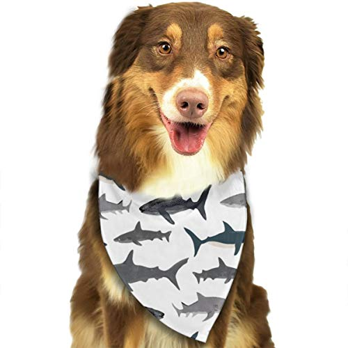 OURFASHION Sharks Nautical Boys Bandana Triangle Bibs Scarfs Accessories for Pet Cats and Puppies.Size is About 27.6x11.8 Inches (70x30cm).