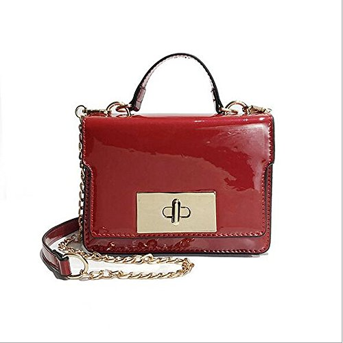 Polyurethane Bags GMYANDJB Bag Blushing PU Black Shoulder Women's Bags Pink Pink Red Buttons Shoulder Blushing CqwXxwFg