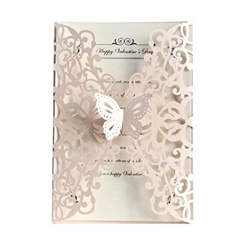 20PCS Butterfly Laser Cut Wedding Invitations European Style Party Invitations Holiday Greeting Card Cover