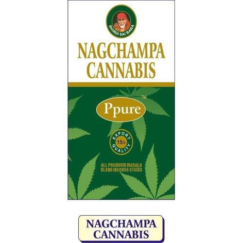 Ppure Nag Champa Cannabis PerfumeプレミアムMasala Incense Sticks 15グラム B072KM8Y4V