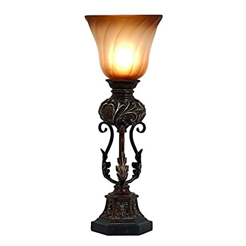 Deco 79 Polystone Metal Uplight, 20 By 8 Inch