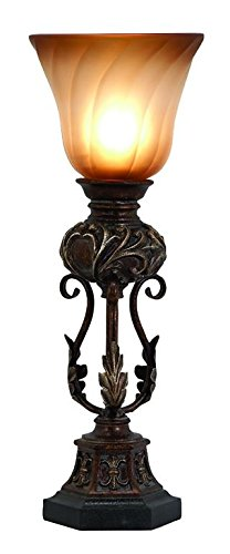 Table Uplight (Deco 79 Polystone Metal Uplight, 20 by 8-Inch)