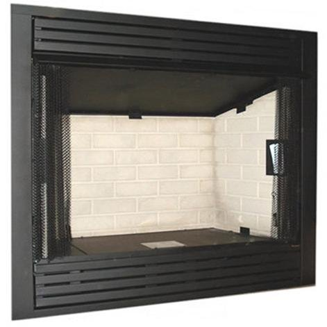 Vent Free Gas Fireplace - Monessen Gcuf42c-r 42-inch Louvered Circulating Vent-free Firebox With Refractory Firebrick
