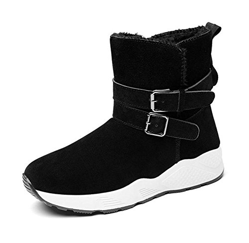 scarpe sportive da black di donna cotone suole scarpe stivali da da neve Scarpe corti tubi donna stivali spesse a7nFFR