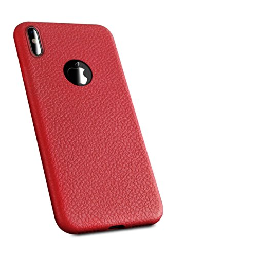Price comparison product image iPhone X Case, Ultra-Thin Protect Case Anti-drop phone shell Solid color Bumper for iPhone 10 / X (red,  iPhone X)
